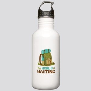The World is Waiting Water Bottle