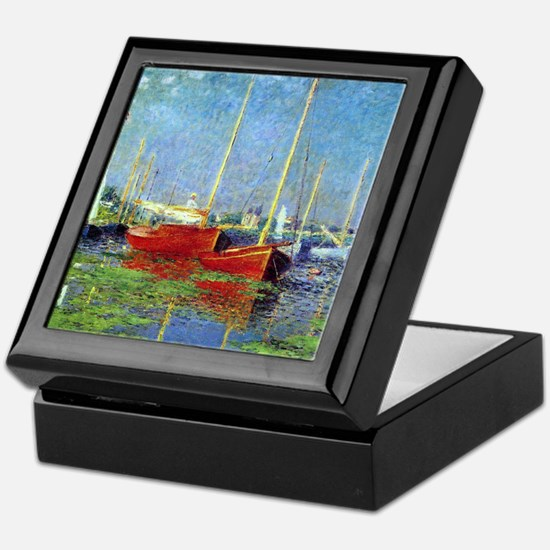 Monet Boats at Argenteuil Keepsake Box