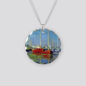 Monet Boats at Argenteuil Necklace