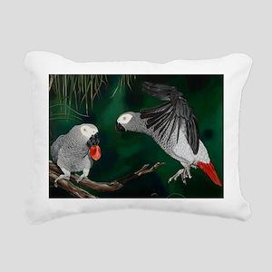Greys in the Wild Rectangular Canvas Pillow