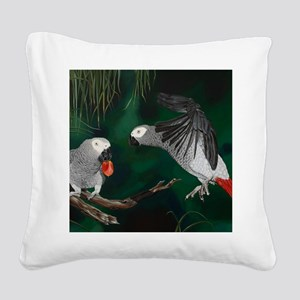 Greys in the Wild Square Canvas Pillow