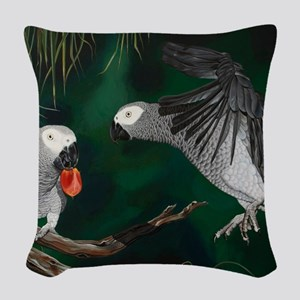 Greys in the Wild Woven Throw Pillow