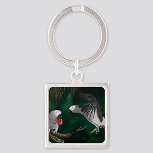 Greys in the Wild Square Keychain