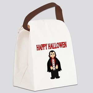 HAPPY HALLOWEEN WITH VAMPIRE Canvas Lunch Bag