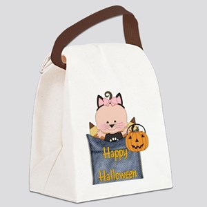 BABY IN HALLOWEEN COSTUME Canvas Lunch Bag