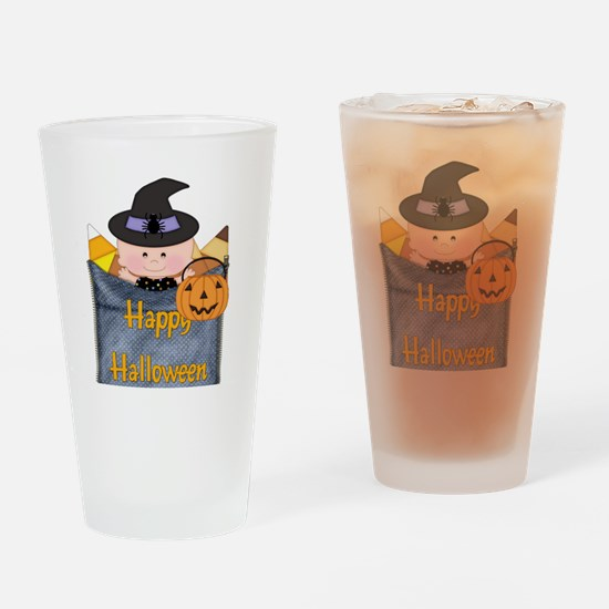 BABY IN HALLOWEEN COSTUME 2 Drinking Glass