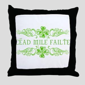 CEAD MILE FAILTE Throw Pillow