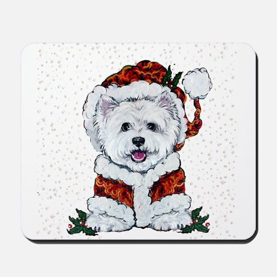 Santas Westie Helper Mousepad