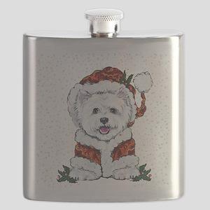 Santas Westie Helper Flask