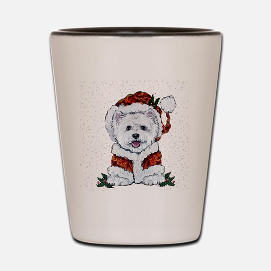 Santas Westie Helper Shot Glass
