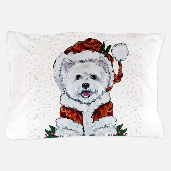 Santas Westie Helper Pillow Case