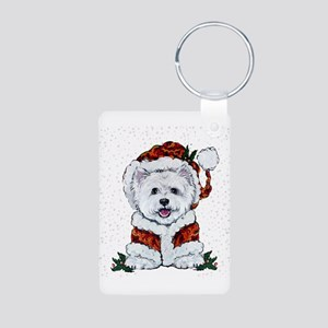 Santas Westie Helper Keychains
