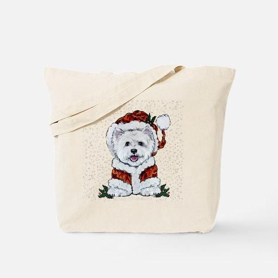 Santas Westie Helper Tote Bag