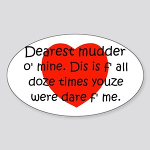Mudder O Mine Oval Sticker