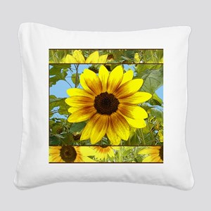 Sunflowers Square Canvas Pillow