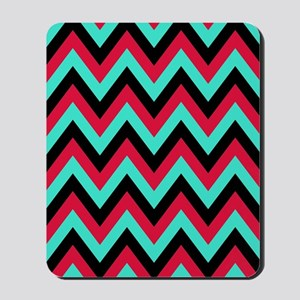 Turquoise and Crimson 5 Mousepad