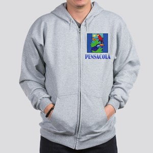 Macaw, Parrot, Butterfly,  Jungle PENSA Zip Hoodie