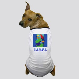Macaw, Parrot, Butterfly,  Jungle TAMP Dog T-Shirt