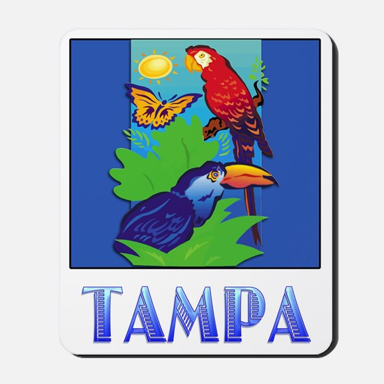 Macaw, Parrot, Butterfly,  Jungle TAMPA Mousepad