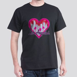 LA Skyline Sunburst Heart T-Shirt