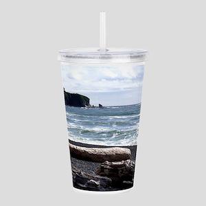 Rialto Beach, WA, USA Acrylic Double-wall Tumbler
