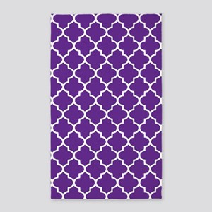 Purple Quatrefoil Pattern 3'X5' Area Rug