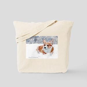 Winter Corgi Tote Bag