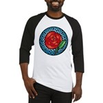 Celtic Rose Stained Glass Baseball Jersey