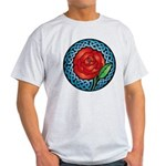 Celtic Rose Stained Glass Light T-Shirt
