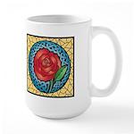 Celtic Rose Stained Glass Large Mug