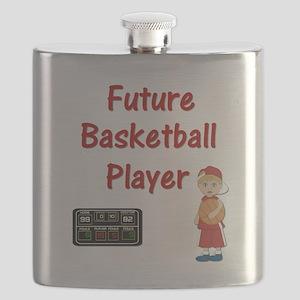 Basketball Player (red) Flask