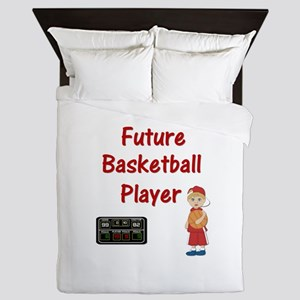 Basketball Player (red) Queen Duvet