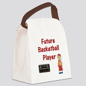 Basketball Player (red) Canvas Lunch Bag