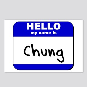 hello my name is chung  Postcards (Package of 8)