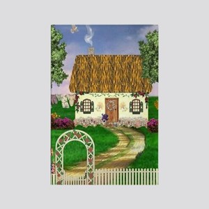 Country Cottage Rectangle Magnet