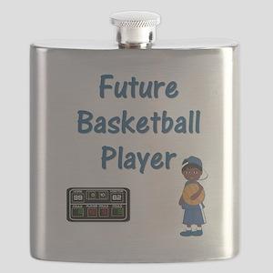 Future Basketball Player (blue) Flask