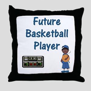 Future Basketball Player (blue) Throw Pillow