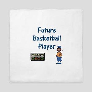 Future Basketball Player (blue) Queen Duvet