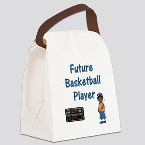 Future Basketball Player (blue) Canvas Lunch Bag