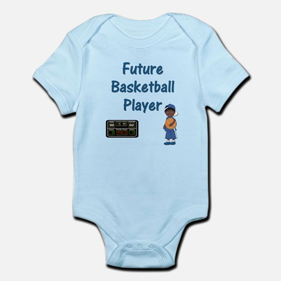 Future Basketball Player (blue) Infant Bodysuit