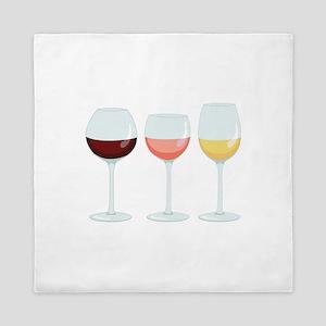 Wine Glasses Queen Duvet