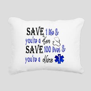 Nurse, Save Rectangular Canvas Pillow
