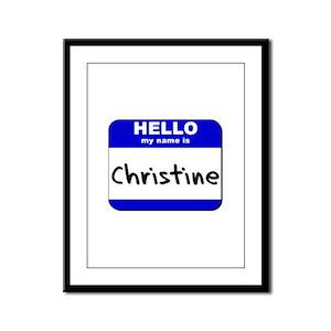 hello my name is christine  Framed Panel Print