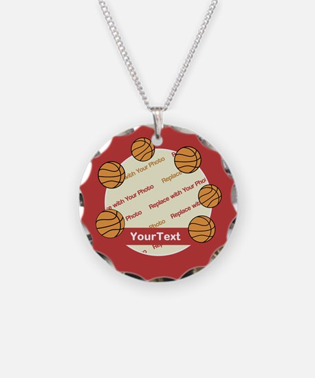 CUSTOMIZE Photo and Text Basketball Necklace
