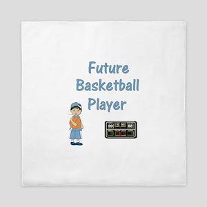 Future Basketball Player (lt. blue) Queen Duvet