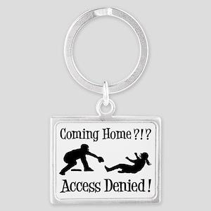 Access Denied, black designer Landscape Keychain