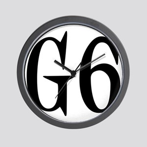 G6, black designer Wall Clock