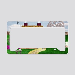 Cherry Tree Cottage License Plate Holder