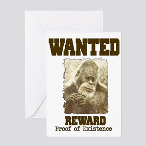 wanted sasquatch  Greeting Card