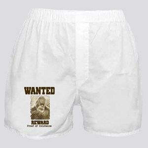 wanted sasquatch  Boxer Shorts